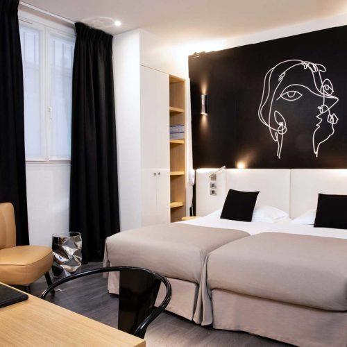 chambre-twin-hotel-montparnasse-saint-germain